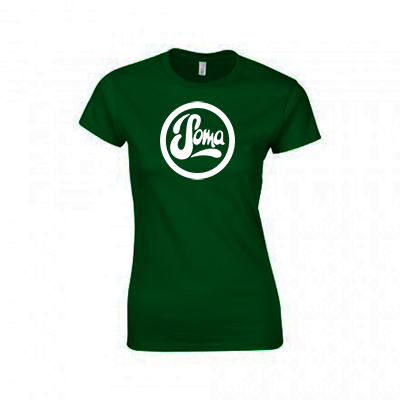 Ladies Bottle Green with White Logo
