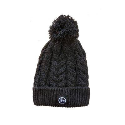 Dark Grey Bobble Beanie