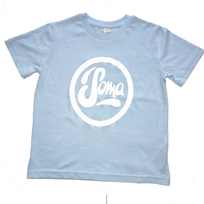 Kids Blue T-Shirt with White Logo