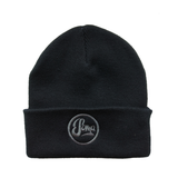 Black Beanie with embroidered dark grey logo