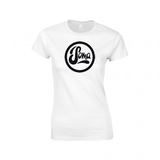 Ladies White with Black Logo